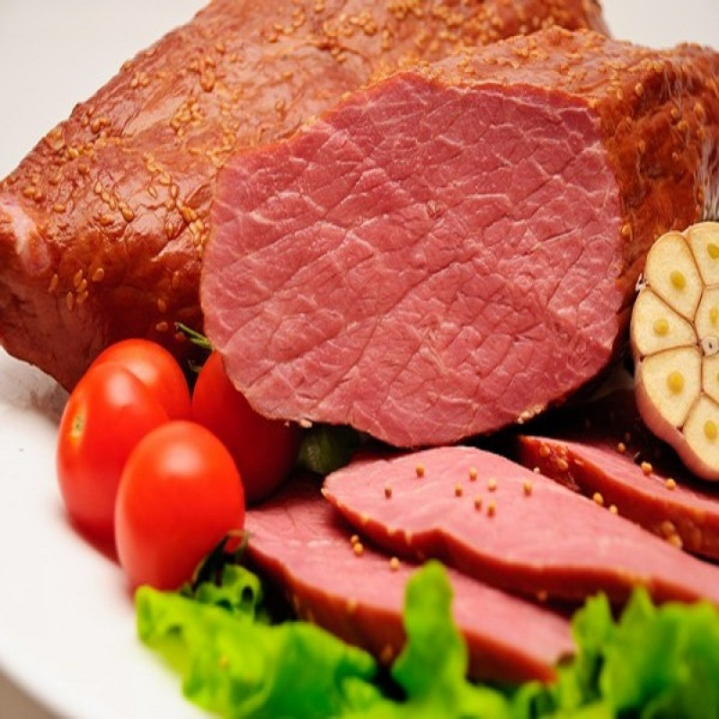 Варено-копченое мясо говядина